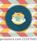 Cream puffs flat icon with long shadow,eps10 22507683
