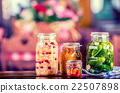 Preserving.Pickles jars.Jars, pickles,vegetables. 22507898