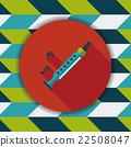 Recorder flat icon with long shadow,eps10 22508047