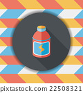 energy drinks flat icon with long shadow,eps10 22508321