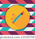 Recorder flat icon with long shadow,eps10 22509700