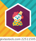 Clown flat icon with long shadow,eps10 22511505