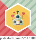 wedding church flat icon with long shadow,eps10 22512100