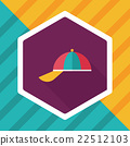 Peaked cap flat icon with long shadow,eps10 22512103
