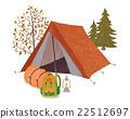 矢量 露營 營地 22512697