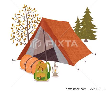 camp, camping, vector 22512697