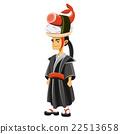 illustration of a cartoon samurai 22513658