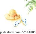 草帽 帽子 蓋 22514085