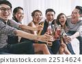 Clinking bottles 22514624
