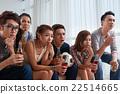 Watching soccer match 22514665