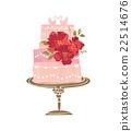 婚禮蛋糕 蛋糕 矢量 22514676