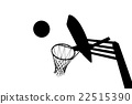 Silhouette picture of basketball goal 22515390