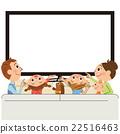 電視 快樂的家庭 矢量 22516463