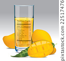Vector nutrition facts of mango juice 22517476