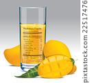 Vector nutrition facts of mango juice 22517476