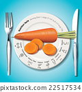Vector of Nutrition facts in carrot on white plate 22517534