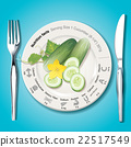 Vector of Nutrition facts in cucumber 22517549