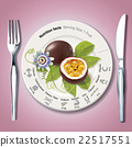 Vector of Nutrition facts in passion fruit 22517551