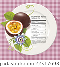Vector of Nutrition facts in passion fruit 22517698