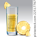 Vector nutrition facts of pineapple juice 22517767