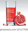 Vector nutrition facts of pomegranate juice 22517768