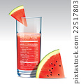 Vector nutrition facts of Watermelon juice. 22517803