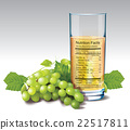 Vector nutrition facts of white grape juice 22517811