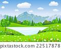 vector, summer, grass 22517878