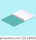 Isometric illustration on a blue background 22518006