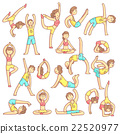 Couple Doing Yoga Poses 22520977