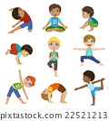 Little Boys Doing Yoga Set 22521213