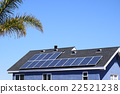 Photovoltaic solar panels on residential areas on the roof 22521238