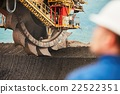 Coal mining in an open pit 22522351