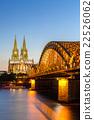 쾰른, 성당, 황혼 22526062