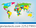 High Detail World Map. Vector 22527993