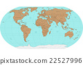 Highly detailed World map. Vector illustration. 22527996