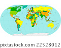 Highly detailed World map. Vector illustration. 22528012