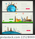 Three Travel and Tourism Banners with Landmarks. 22528069