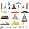 World landmarks. Famous world landmarks vector 22528122