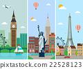 Cities skylines design with landmarks.  22528123