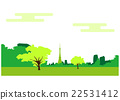 도쿄 타워가있는 도쿄 풍경 22531412