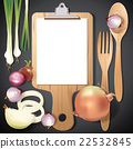 Vector wooden cutting and clipboard with Ingredien 22532845