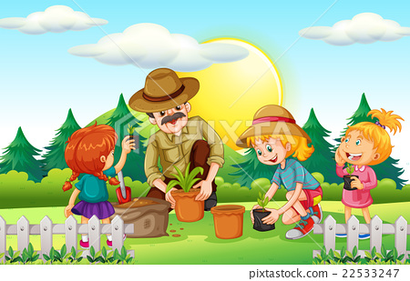 People planting tree in the park 22533247