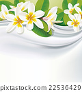 Vector white fabric (silk) background with flower 22536429