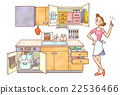 厨房 收据 家庭主妇 22536466