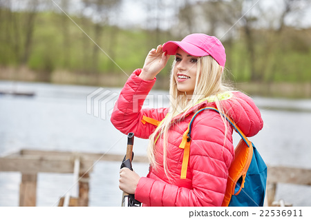 woman with backpack outdoor 22536911