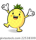 Happy Pineapple Character 22538309