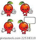 Flexibility as possible a set of Apple Mascot.  22538310