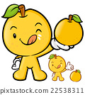 Pear Mascot the Right hand is holding a big Fruit. 22538311