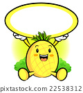 The Pineapple Mascot holding a big board 22538312